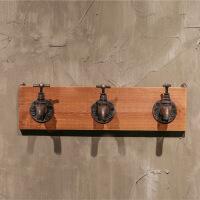 创意家居挂钩壁饰艺做旧水龙头挂钩浴室装饰挂件木质工艺品