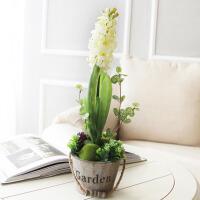 仿真花风信子实木花器套装家居客厅壁挂式装饰花瓶花艺摆件