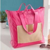 折叠旅行包旅行袋男女手提无拉杆箱便携行李袋旅游包行李箱收纳包s6 玫红