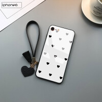 苹果6手机壳钢化玻璃iPhone6s保护套男个性创意苹果六女款黑白格子ip6后盖全包边防摔轻薄新