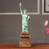 创意家居个性电视柜办公室软装饰品摆设美式自由女神像模型摆件