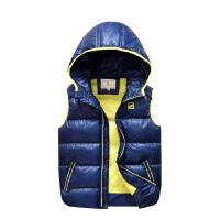男童羽绒棉马甲秋冬中大童加厚背心童装新款马夹儿童坎肩保暖外套
