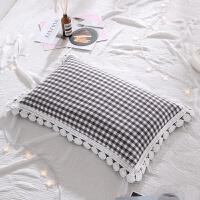 ???小米壳全荞麦花边枕头带枕套套装加枕芯学生单人护颈枕颈椎枕
