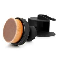 优家(UPLUS)大号圆形推拉式粉底刷(印章刷 O型底妆刷 蜜粉刷 散粉刷化妆刷)
