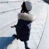 2018新款韩版反季儿童羽绒服中长款大毛领童装宝宝男女童加厚外套