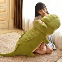 软体趴趴鳄鱼公仔毛绒玩具可爱韩国睡觉抱枕大号女生布娃娃萌礼物 绿色(婴儿柔羽绒棉)