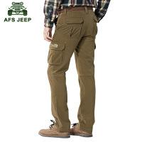 Afs Jeep春款休闲裤 战地吉普工装休闲裤 多口袋薄款长裤正品7687