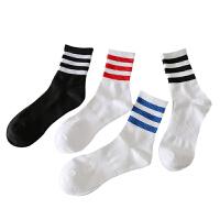秋冬运动袜男袜加厚保暖滑板跑步篮球羽毛球毛巾底中筒白袜子 均码