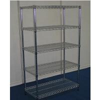 不锈钢色置物架收纳架五层厨房层架落地架储物架家用整理架子
