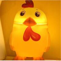 鸡极向上台灯存钱罐led台灯储钱罐折叠护眼灯阅读usb充电小夜灯颜色随机