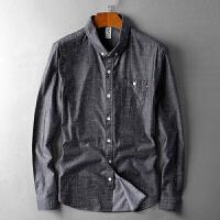 秋装衬衫男长袖休闲修身流行衬衣艺术波点棉帅气时尚都市