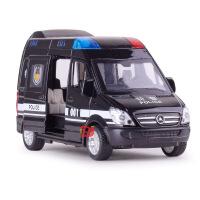 ?小孩玩具汽车模型合金奔驰救护车120回力声光特警小车仿真警车110