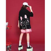 运动套装女夏2021夏季新款时尚休闲潮牌女装小个子短裤炸街两件套