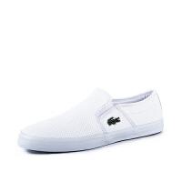 Lacoste法国鳄鱼男鞋小白鞋平底一脚蹬透气休闲鞋专柜正品