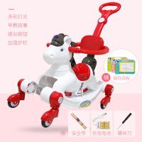 宝宝摇摇马滑行两用塑料婴儿骑马玩具一岁女孩小木马音乐儿童摇马