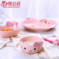 白领公社 儿童碗 宝宝餐具可爱创意卡通陶瓷汤面吃饭碗小孩小米饭kt碗个性餐具厨房用品