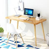 【限时7折】电脑台式桌书桌实木腿家用小桌子简约北欧现代卧室学生宜家写字桌