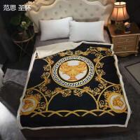 2020新款潮牌毛毯保暖羊羔绒床单小毯办公室午睡沙发盖毯宿舍学生