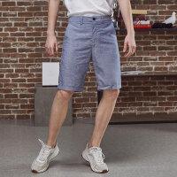 【1件2折到手价:25.2】美特斯邦威短裤男夏装新款帅气潮流宽松学生棉麻休闲五分裤男港风