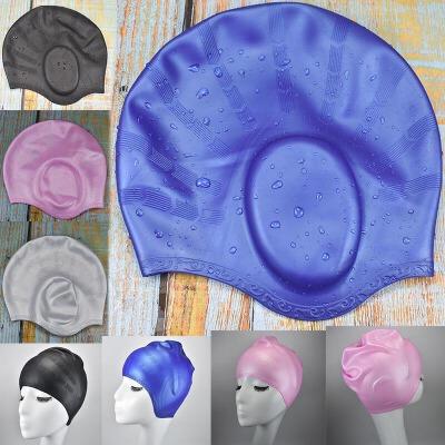 专业游泳帽防水硅胶长发护耳男女儿童冬泳保暖加厚橡胶加大号