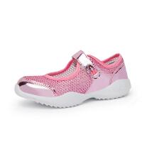 童鞋女童运动鞋夏季女童单鞋镂空女童网鞋透气网面轻便公主鞋N65P