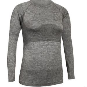新款女专业运动透气圆领T速干训练健身跑步套指头长袖上衣WA08