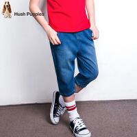 【3件3折券后预估价:78元】暇步士童装新款夏装男童7分裤子大童牛仔短裤儿童针织七分裤