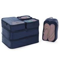 旅游行李箱整理包 旅行收纳袋6件套 便携衣服内衣物整理袋套装