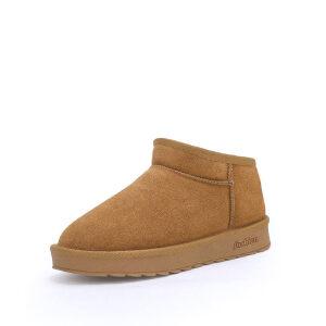 WARORWAR 2019新品YG29-S18-X006冬季欧美磨砂反绒牛皮真皮低底舒适女鞋潮流时尚潮鞋百搭潮牌雪地靴