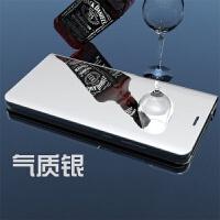 优品三星note5手机壳sm-n9200保护皮套noto5翻盖式N9208个性创意galaxy男女款 气质银 立式镜面