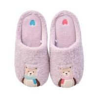 冬季棉拖鞋女可爱卡通亲子款加绒保暖厚底家用室内男家居毛毛棉鞋