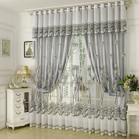 欧式窗帘布全遮光卧室婚房落地窗纱双层窗帘成品简约现代客厅
