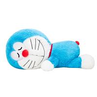 哆啦A梦新品趴式毛绒公仔 趴姿长筒抱枕靠垫玩具机器猫