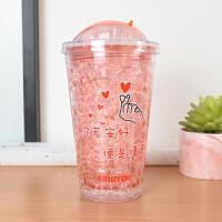 白领公社 玻璃杯 卡通皇冠猴玻璃杯学生便携可爱个性水杯子男女情侣杯创意礼品送闺蜜