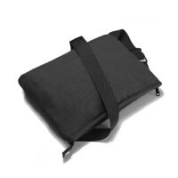 男士帆布单肩包时尚个性休闲包骑行包斜挎包女单肩包 黑色