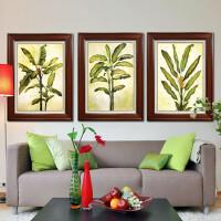 装饰画 有框画 现代风格 芭蕉叶 客厅房间挂画 家装饰品 绿色 80*120 其他类型 独立
