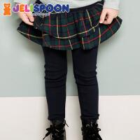 韩国童装Jelispoon 2017秋季新款 女童 格子裙裤