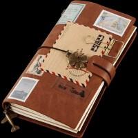 TN旅行复古手帐本子随身笔记本皮日记本活页创意记事手账本文具