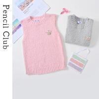 【2件3折价:47.7元】铅笔俱乐部童装2020秋冬新款女童针织衫儿童保暖毛线衣大童上衣