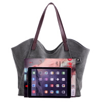 帆布包女包2017新款韩版潮简约百搭大容量手提包单肩包女士大包包