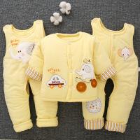 婴儿冬季棉衣套装加厚0-1-2岁初生宝宝冬装棉袄外套男女秋冬