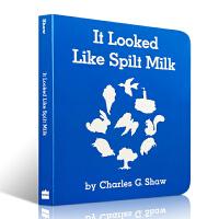 【发顺丰】英文原版 It Looked Like Spilt Milk 看上去像打翻了的牛奶 3-6岁幼儿启蒙认知绘本
