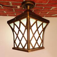 户外吸顶灯欧式庭院灯防水防锈阳台灯室外走廊复古灯LED灯别墅灯