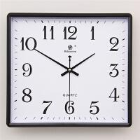 方形简约现代大挂钟客厅静音钟表家用个性创意时尚艺术挂表石英钟