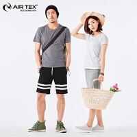 AIRTEX亚特纯棉宽松休闲旅行男女款短T恤