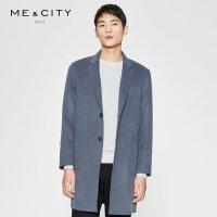 【1件3折到手价:403.77】MECITY男装春季廓形羊毛双面呢大衣男中长款韩版