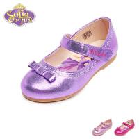 【限时79元2双】迪士尼Disney童鞋女童时尚苏菲亚公主鞋儿童皮鞋婴童时装鞋宝宝鞋方口鞋单鞋舞蹈鞋