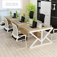 ZUCZUG办公桌椅简约现代组合职员电脑桌2 4 6人位隔断屏风员工卡座