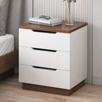 【爆款】床头柜简约现代收纳柜简易仿实木卧室多功能置物架床边柜子储物柜