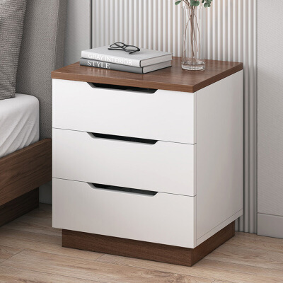 【一件3折】加厚环保大容量多抽床头柜 简易床边收纳柜多功能创意小柜子 支持* 多重储物 私人抽屉